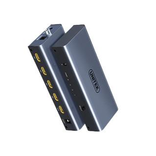 UNITEK 优越者 HDMI切换器 四进一出 钛灰色