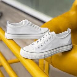CAMEL 骆驼 男鞋潮流透明网布低帮帆布鞋时尚韩版休闲透气布鞋男 A022278240,白色 41