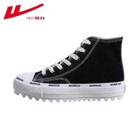 WARRIOR 回力 Warrior)高帮松糕帆布鞋女款耐磨防滑休闲运动鞋百搭时尚