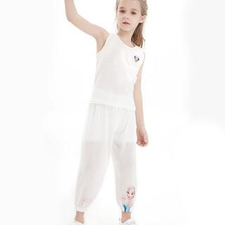 Disney 迪士尼 女童裤子儿童夏季薄款防蚊裤中大童休闲外穿打底裤夏装