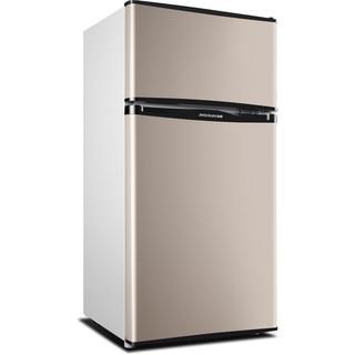jinshuai 金帅 双门小冰箱小型家用宿舍用租房用双开门冷藏冷冻节能电冰箱