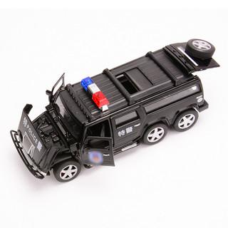 邦娃良品 超大号合金汽车模型-六轮悍马特警+33对车牌+2小车