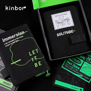 kinbor 手账本笔记本子A6记事本创意文具手帐套装-无限循环DT56036