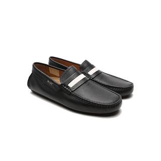 BALLY 巴利 男士黑色牛皮橡胶底商务休闲户外休闲鞋单鞋 DRACON/200