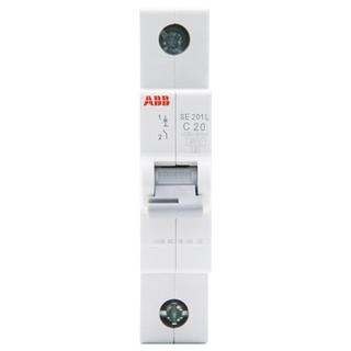 ABB 小型断路器空气开关20AA总空开家用1P总开电闸短路不带漏电保护