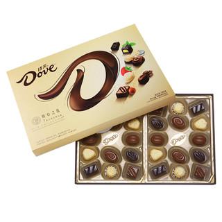Dove 德芙 牛奶夹心巧克力280g礼盒装多口味浪漫表白送女友生日礼物