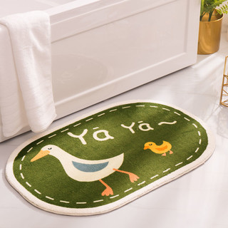 XingLiheng 浴室卫生间厨房门口垫地毯40CM*60CM(无毛-一条装)