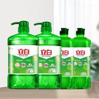 Liby 立白 茶籽洗洁精4瓶家庭装  除菌去油 不伤手 食品用