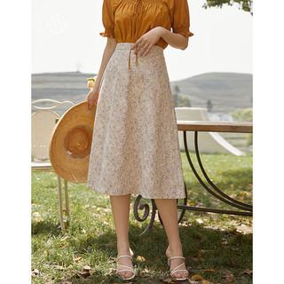 DUSHU 独束 大码女装蕾丝钩花镂空半身裙女高腰2021年夏季新款胖mm气质显瘦短裙 粉色 L