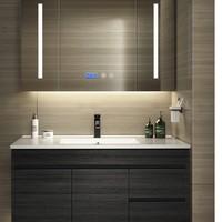 卫达斯 WDZ-YG01 浴室柜组合 黑色款 80柜+普通镜柜+面盆龙头