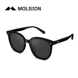 MOLSION 陌森 Molsion 21年款新复古时尚眼镜Angelababy驾驶镜太阳镜墨镜MS3016 A13镜框黑色丨镜片灰色全色
