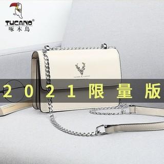 啄木鸟包包女高级感斜挎包链条包单肩包鹿头包送女友老婆生日礼物