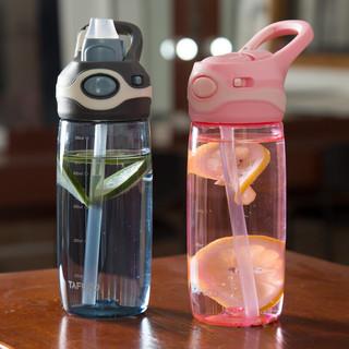 TAFUCO 泰福高 T2792 塑料杯儿童吸管水杯 580ml 粉色