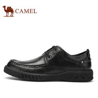 CAMEL 骆驼 轻便软底舒适商务休闲皮鞋男 A932155180 黑色 41