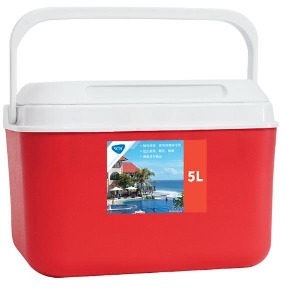 SCB SL-8 保温箱 红色 5L