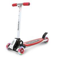 么么娃 儿童滑板车三四轮可折叠小孩摇摆车滑滑车可调节
