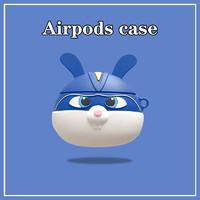 速域 立体可爱蓝色兔子 AirPods保护套