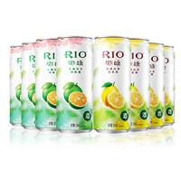 RIO 锐澳 预调鸡尾酒微醺3度金橘乌龙茶味+柠檬红茶味 330ml*8罐