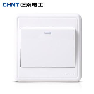 CHNT 正泰 开关插座 NEW1C 明装墙壁开关 一开双控开关面板 新款明装