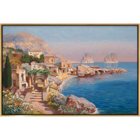 弘舍 阿洛伊斯・亚利格油画|原作版画《科恩湖》成品尺寸87×58cm 1928年 油画布 现代简约客厅装饰画