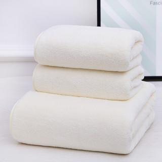 XIEYUESANXING 斜月三星 珊瑚绒毛巾浴巾三件套