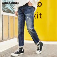 JACK&JONES 杰克琼斯 219432525 男士破洞弹力牛仔裤