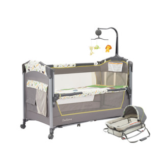 danilove 美国danilove便携式婴儿床可折叠新生儿多功能移动床bb床拼接大床