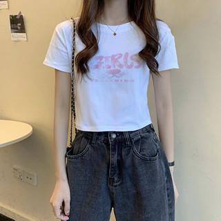 真维斯旗下2021夏季新款纯棉打底衫短款T恤女式短袖女夏上衣