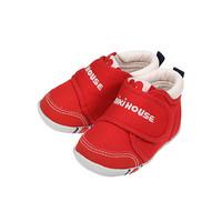 MIKI HOUSE 10-9382-456 儿童学步鞋 一段红色 12cm