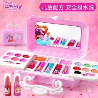 迪士尼公主儿童化妆品套装无毒小女孩宝宝表演彩妆盒生日礼物玩具