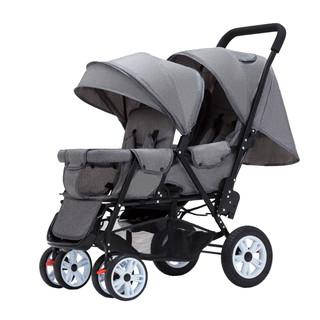 liuncy双胞胎婴儿推车前后坐二胎双人可坐躺轻便折叠儿童手推车
