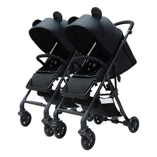 双胞胎婴儿推车双人二胎推车神器大小宝轻便折叠可坐躺拆分婴儿车