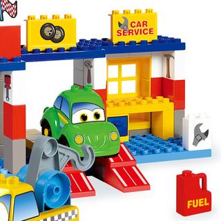 B Toys 进口积木兼容Lego大颗粒积木维尼高儿童汽车房礼盒装益智拼插玩具
