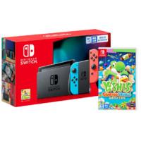 Nintendo 任天堂 Switch系列 国行续航增强版游戏机 红蓝色+耀西的手工世界