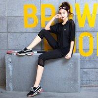 女款瑜伽服装套装运动女式居家服三件套跑步衣日常穿搭显瘦 2XL 黑色