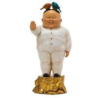 XQ 稀奇 瞿广慈《鸟叔》限量版雕塑摆件 35×15×15.5 玻璃钢手绘 2015年