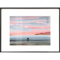 仟象映画 张乐陆 喵的后半生系列装饰画《G款-夕阳》40x30cm 油画布 黑色画框