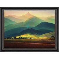 Artron 雅昌 大卫名人油画《巨人山》73×56cm 沙发背景墙装饰画 客厅走廊画廊酒吧办公室挂画