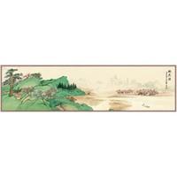 尚得堂 新中式手绘客厅装饰画《赤壁赋》150×40cm 沙发背景墙卧室床头挂画水墨画山水画