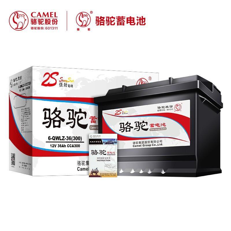 CAMELJEANS 骆驼牌 6-QW-36(2S)汽车电瓶蓄电池 12V