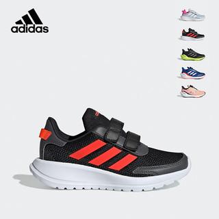adidas 阿迪达斯 2021春夏季男小童魔术贴防滑跑步鞋儿童运动鞋EG4143一号黑/红荧光/铁灰28.5码/170mm/10-k