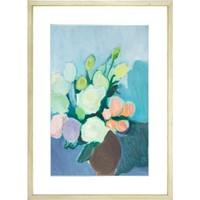Ben Art Gallery 本艺术空间 张利华油画作品《花瓶》90×60cm 饰画 原木色画框