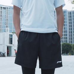 LI-NING 李宁 男裤运动裤新款短裤五分裤宽松透气休闲卫裤男