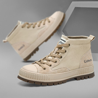 Cabbeen 卡宾 新款个性潮流工装鞋时尚防滑耐磨户外型高帮鞋男