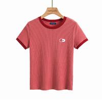 2021夏季设计感小众圆领短袖t恤女青春内搭女打底衫体恤上衣 S 砖红
