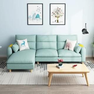 喜挚北欧布艺沙发客厅简约现代小户型三人位组合可拆洗出租屋沙发