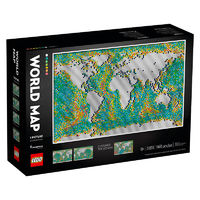 LEGO 乐高 世界地图31203马赛克颗粒画