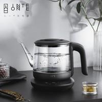 INTEONE 入一 静音恒温电热烧水壶玻璃壶身不锈钢壶底大容量办公室家用水壶