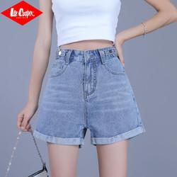 Lee Cooper 女款高腰牛仔短裤
