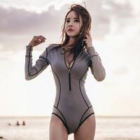DK 2021新款长袖防晒游泳衣